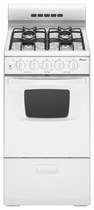 "Amana - 20"" Freestanding Gas Range - White"