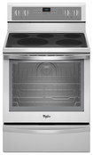 "Whirlpool - 30"" Self-Cleaning Freestanding Electric Convection Range - White Ice"