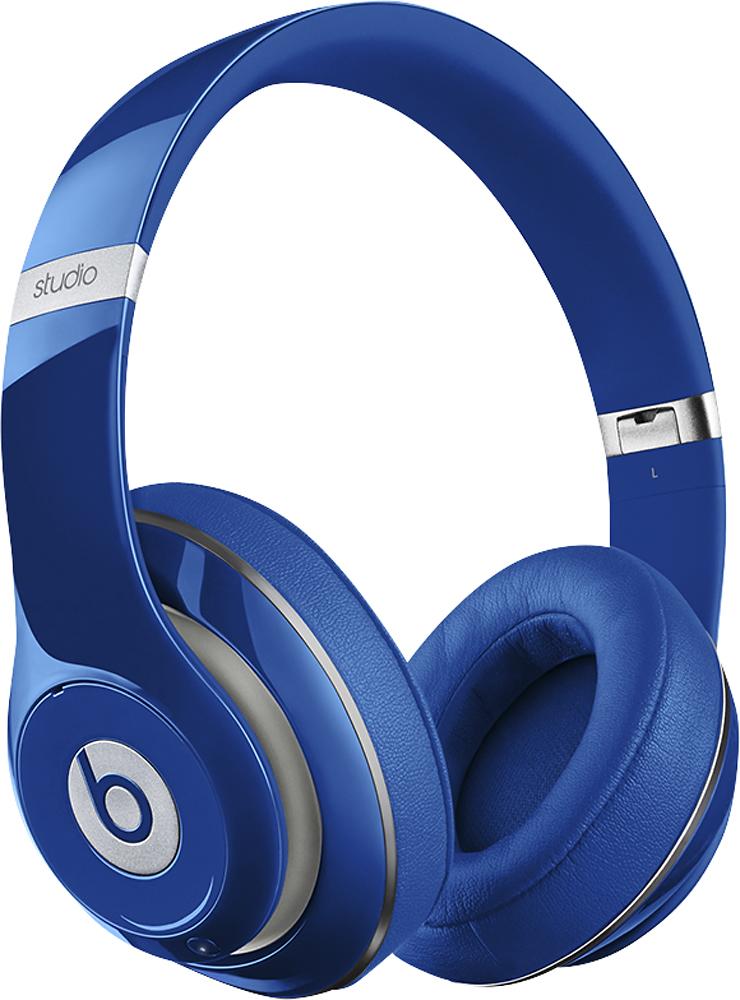 Beats by Dr. Dre - Geek Squad Certified Refurbished Beats Studio Wireless On-Ear Headphones - Blue