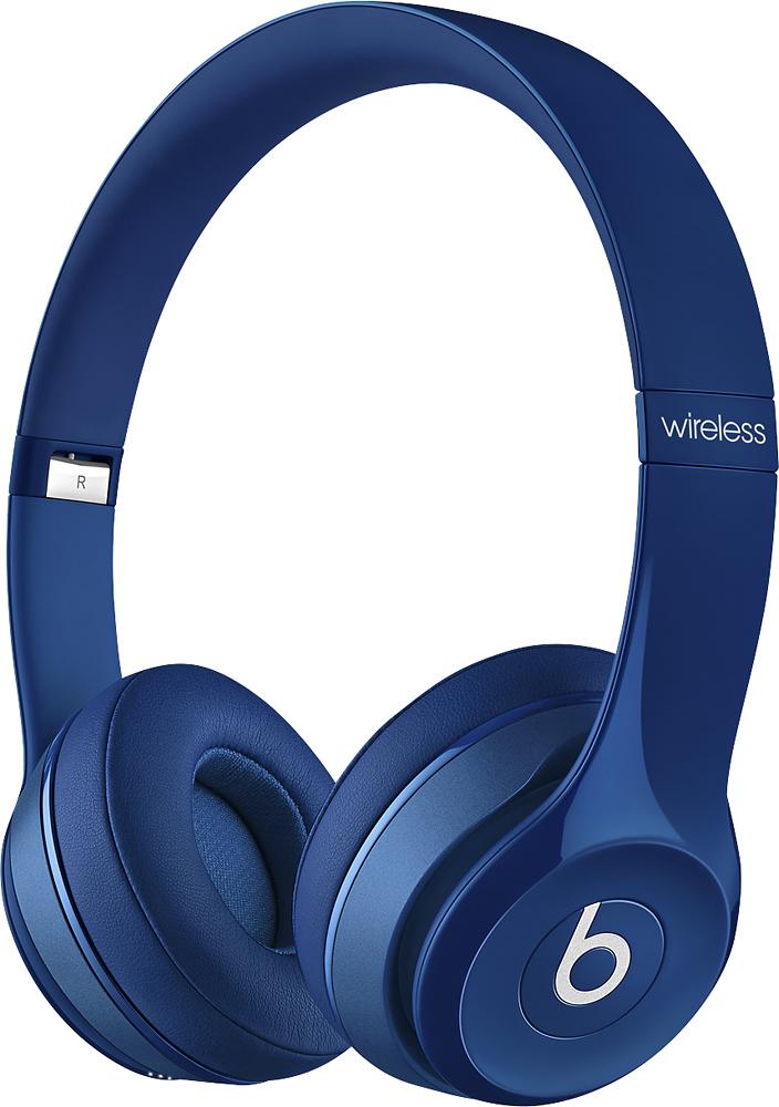 Beats By Dr. Dre - Geek Squad Certified Refurbished Beats Solo 2 On-ear Wireless Headphones - Blue