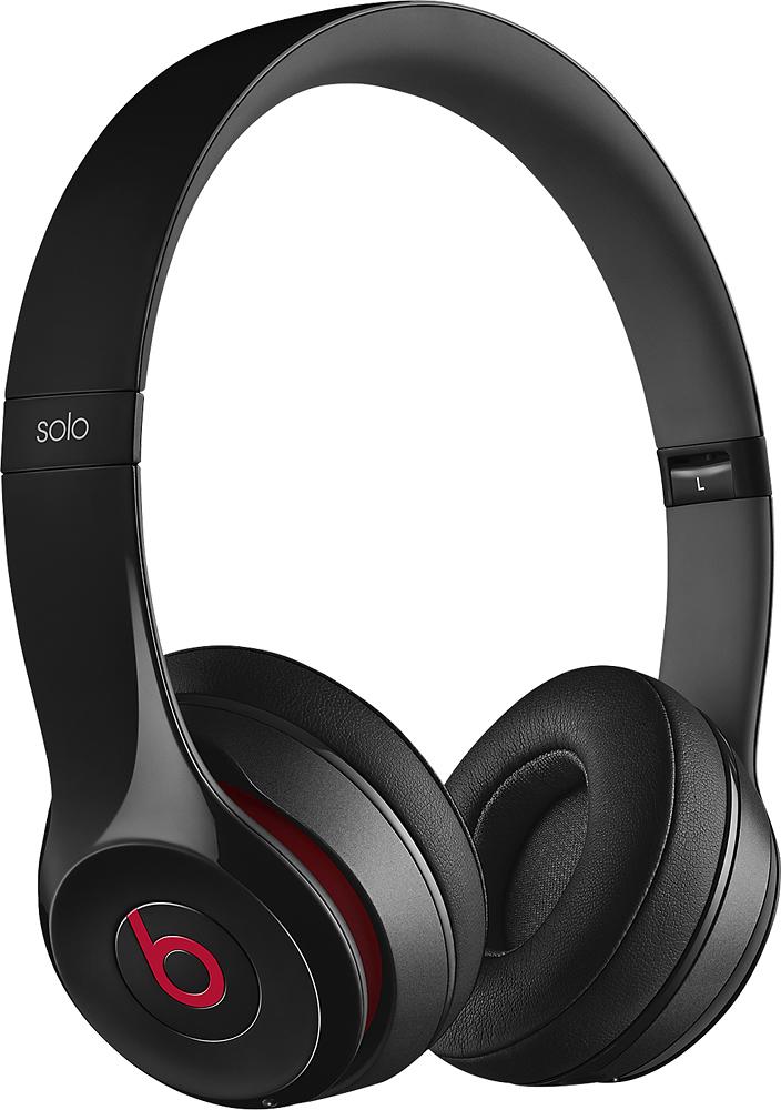 Beats By Dr. Dre - Geek Squad Certified Refurbished Beats Solo 2 On-ear Wireless Headphones - Black