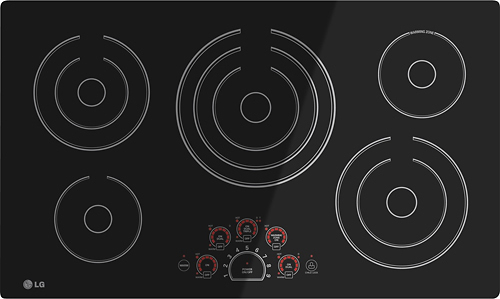 LG - 36 Built-In Electric Cooktop - Black