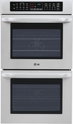 "LG - 30"" Built-In Double Electric Convection Wall Oven - Stainless-Steel"