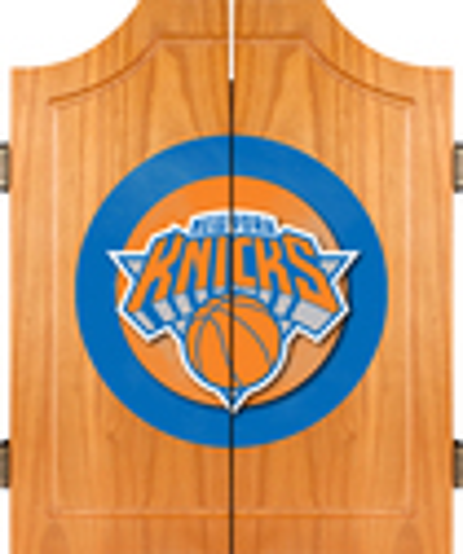 Trademark Global - New York Knicks Solid Pine Dart Cabinet Set - Brown