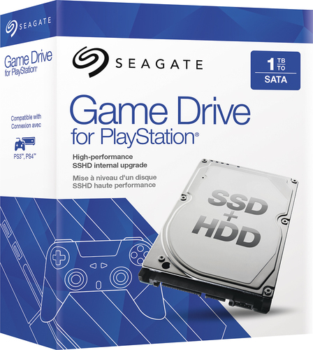 Seagate - Game Drive 1TB Internal Sata Hard Drive for Sony Playstation 3 and Playstation 4 (OEM/Bare Drive)