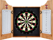 Trademark Global - NC State Solid Wood Dart Cabinet - Brown
