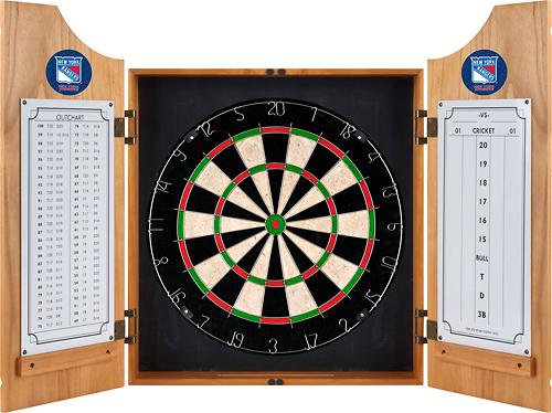 Trademark - New York Rangers Solid Wood Dart Cabinet