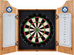 Trademark Global - Toronto Maple Leafs Solid Wood Dart Cabinet - Brown
