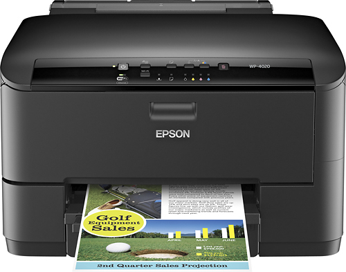 Epson - WorkForce Pro WP-4020 Wireless Printer - Black