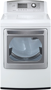 LG - SteamDryer 7.3 Cu. Ft. 14-Cycle Ultra-Large Capacity Steam Gas Dryer - White