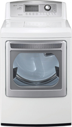 LG - SteamDryer 7.3 Cu. Ft. 14-Cycle Ultra-Large Capacity Steam Electric Dryer - White