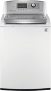 LG - 4.7 Cu. Ft. 12-Cycle Ultra-Large Capacity High-Efficiency Top-Loading Washer - White