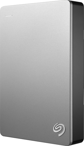 Seagate - Backup Plus for Mac 4TB External USB 3.0/2.0 Portable Hard Drive - Silver