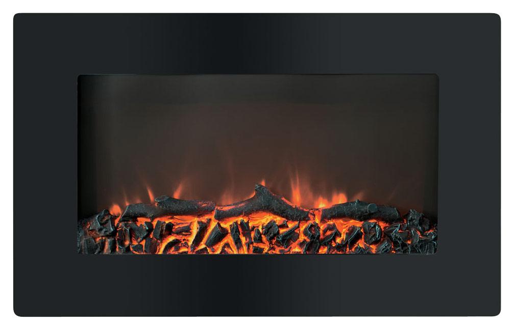 Cambridge - Callisto 30 Wall-Mount Electric Fireplace - Black