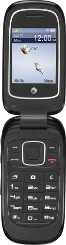 At&t GoPhone - ZTE Z223 Prepaid Cell Phone - Black