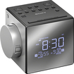 Sony - AM/FM Dual-Alarm Clock Radio - Black/Silver