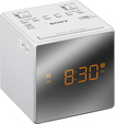 Sony - AM/FM Dual-Alarm Clock Radio - White