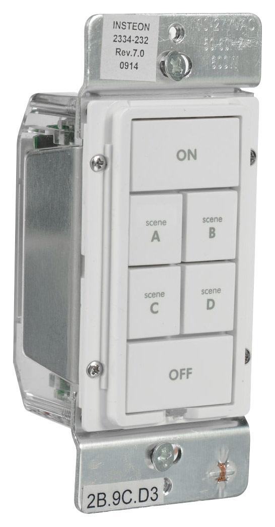 INSTEON - 6-Button Keypad Dimmer - White