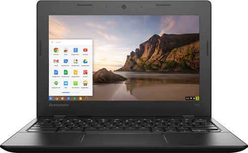 Lenovo - IdeaPad 100s 11.6 Chromebook - Intel Celeron - 2GB Memory - 16GB eMMC Flash Memory - Black