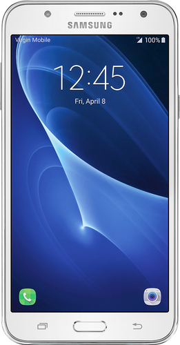 Virgin Mobile - Samsung Galaxy J7 (2016) 4G LTE with 16GB Memory Prepaid Cell Phone - White