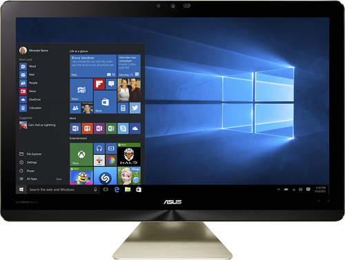 Asus - Zen AiO Pro 23.8 4K Ultra HD Touch-Screen All-In-One - Intel Core i5 - 8GB Memory - 1TB+8GB Hybrid Hard Drive - Gold