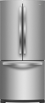 Whirlpool - 19.6 Cu. Ft. French Door Refrigerator - Monochromatic Stainless-Steel