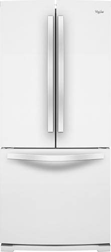 Whirlpool - 19.6 Cu. Ft. French Door Refrigerator - White