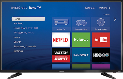Insignia™ - 48 Class - (47.6 Diag.) - LED - 1080p - Smart - HDTV Roku TV - Black