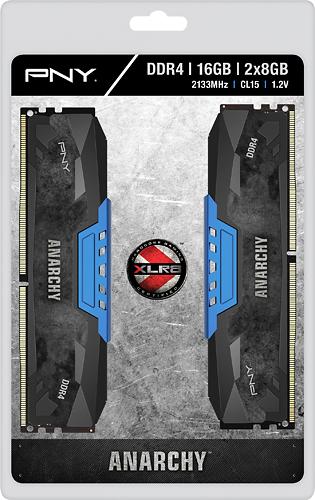 PNY - Anarchy 2-Pack 16GB PC4-17000 DDR4 Dimm Desktop Memory Kit - Black