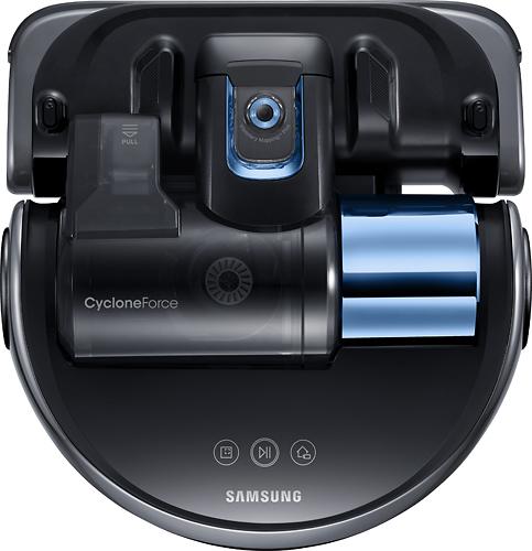 Samsung - POWERbot Essential Wi-Fi Robot Vacuum - Graphite Blue