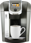 Keurig K525 Coffee Maker, Black/Silver