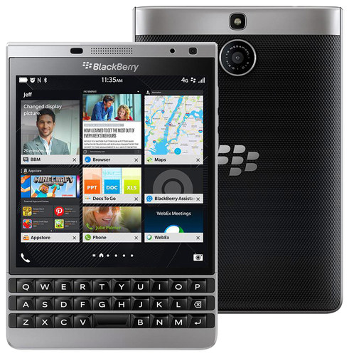 BlackBerry - Passport with 32GB Memory Cell Phone (Unlocked) - Silver