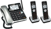 AT&T - CL84202 DECT 6.0 Expandable Phone System with Digital Answering System - Black/Silver