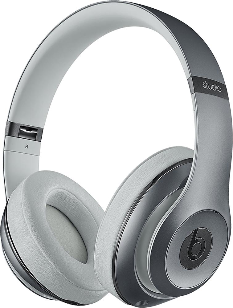 Beats By Dr. Dre - Geek Squad Certified Refurbished Beats Studio Over-the-ear Headphones - Metallic Sky