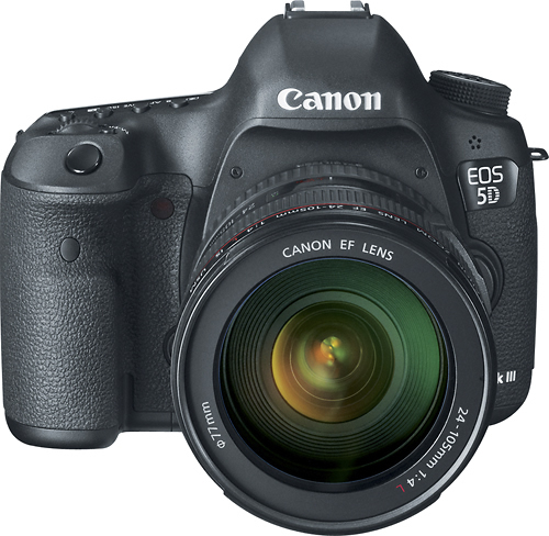 Canon - EOS 5D Mark III Dslr Camera with 24-105mm f/4L IS Lens - Black