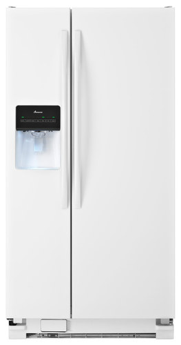 Amana - 21.2 Cu. Ft. Side-by-Side Refrigerator - White
