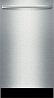 "Bosch - 18"" Built-In Dishwasher - Stainless-Steel"