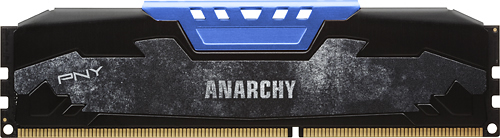 PNY - Anarchy 2-Pack 4GB PC3-17000 DDR3 Dimm Desktop Memory Kit - Blue