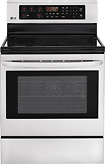 "Lg - 30"" Self-cleaning Freestanding Electric Convection Range - Stainless-steel 4844776"