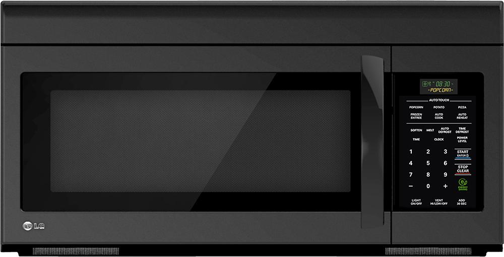 Lg 1 6 Cu Ft Over The Range Microwave Smooth Black