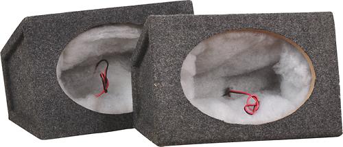 "Metra - 6"" x 9"" Single Sealed Speaker Enclosure (Pair) - Charcoal"