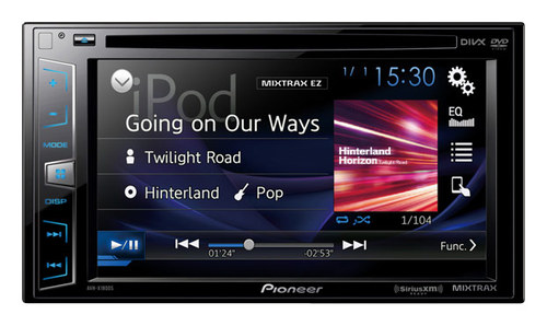 Pioneer - 6.2 - CD/DVD - Apple® iPod®- and Satellite-Radio Ready - In-Dash Receiver with Fixed Faceplate and Remote - Black