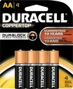 Duracell - AA 1.5V CopperTop Batteries (4-Pack)