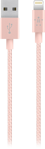 Belkin - Mixit 4' Metallic Lightning to USB Cable - Rose Gold