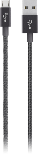 Belkin - Mixit 4' Metallic Micro-USB to USB Cable - Black
