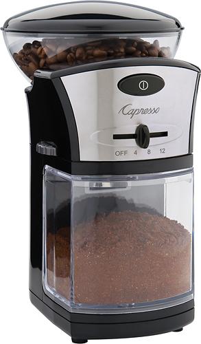 Capresso - 5-Oz. Burr Coffee Grinder - Black/Stainless-Steel