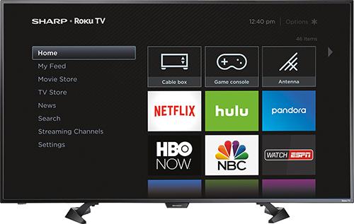 Sharp - 50 Class (49.5 Diag.) - LED - 1080p - Smart - HDTV Roku TV - Black