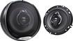 """Kenwood - Performance Series 6-1/2"""" 3-Way Car Speakers with Polypropylene Cones (Pair) - Dark Gray"""
