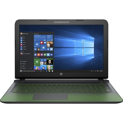 HP - Pavilion 15-ak020nr Laptop - Intel Core i7 - 8GB Memory - 1TB Hard Drive - Black/Green