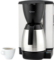 Capresso - MT600 PLUS 10-Cup Programmable Coffeemaker - Stainless-Steel/Black